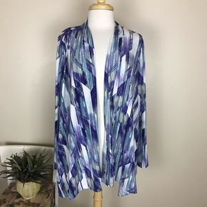 ** Chico's Easywear Open Cardigan